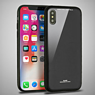 Minimalistic TPU Case with Tempered Glass Backing for iPhone X - Black