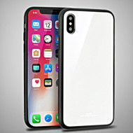 *Sale* Minimalistic TPU Case with Tempered Glass Backing for iPhone X - White