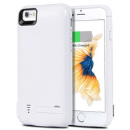 Power Bank Battery Case 5800mAh with External USB Charging Port for iPhone 8 / 7 / 6S / 6 - White