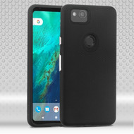 Haptic Football Textured Anti-Slip Hybrid Armor Case for Google Pixel 2 XL - Black
