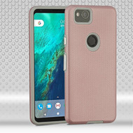Haptic Football Textured Anti-Slip Hybrid Armor Case for Google Pixel 2 XL - Rose Gold