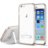 *Sale* Bumper Shield Clear Transparent TPU Case with Magnetic Kickstand for iPhone 6 / 6S - Rose Gold