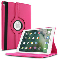 360 Degree Smart Rotating Leather Case for iPad Pro 12.9 inch (1st and 2nd Generation) - Hot Pink