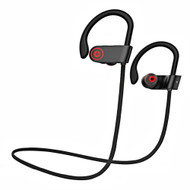 HD Stereo Bluetooth V4.1 Wireless Sport Earphones with Microphone - Black