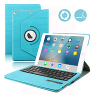 360 Degree Rotating Leather Case with Removable Bluetooth Wireless Keyboard for iPad Pro 9.7 inch - Blue