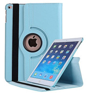 360 Degree Smart Rotating Leather Case for iPad (2017) / iPad Air / iPad Air 2 - Baby Blue