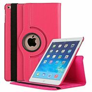 360 Degree Smart Rotating Leather Case for iPad (2017) / iPad Air / iPad Air 2 - Hot Pink