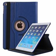 360 Degree Smart Rotating Leather Case for iPad (2017) / iPad Air / iPad Air 2 - Navy Blue