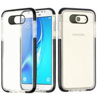 Crystal Clear Transparent TPU Case with Bumper Reinforcement for Samsung Galaxy J7 (2017) / J7 V / J7 Perx - Black