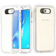 Crystal Clear Transparent TPU Case with Bumper Reinforcement for Samsung Galaxy J7 (2017) / J7 V / J7 Perx - White