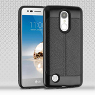 Leather Texture Anti-Shock Hybrid Protection Case for LG Aristo / Fortune / K8 (2017) / Phoenix 3 - Black