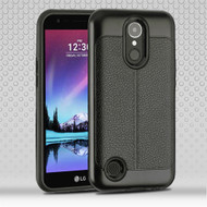 Leather Texture Anti-Shock Hybrid Protection Case for LG K20 Plus / K20 V / K10 (2017) / Harmony - Black