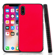 Tough Anti-Shock Hybrid Protection Case for iPhone X - Red