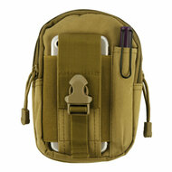 Tactical MOLLE Cell Phone Pouch - Khaki