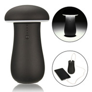 Mushroom Design Smart Power Bank 6000mAh Battery with LED Lamp - Black