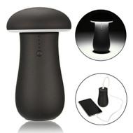 Mushroom Design Smart Power Bank 6000mAh Battery with LED Lamp - Black