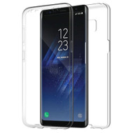 Anti-Scratch 360 Front and Back Full Body Protection Transparent TPU Case for Samsung Galaxy S8 Plus - Clear