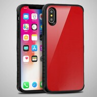 *Sale* Scratch Proof Tempered Glass Tough Anti-Shock Hybrid Protection Case for iPhone X - Red