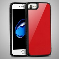 *Sale* Scratch Proof Tempered Glass Tough Anti-Shock Hybrid Protection Case for iPhone 8 / 7 / 6S / 6 - Red