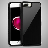 *Sale* Scratch Proof Tempered Glass Tough Anti-Shock Hybrid Case for iPhone 8 Plus / 7 Plus / 6S Plus / 6 Plus - Black