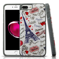 Tough Anti-Shock Triple Layer Hybrid Case for iPhone 8 Plus / 7 Plus / 6S Plus / 6 Plus - Eiffel Tower