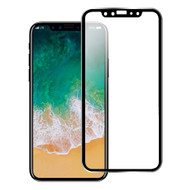 Titanium Alloy 3D Curved Full Coverage Tempered Glass Screen Protector for iPhone X - Black