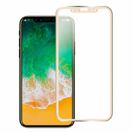 Titanium Alloy 3D Curved Full Coverage Tempered Glass Screen Protector for iPhone X - Gold
