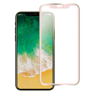 Titanium Alloy 3D Curved Full Coverage Tempered Glass Screen Protector for iPhone X - Rose Gold