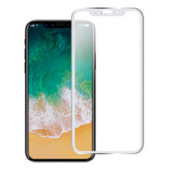 Titanium Alloy 3D Curved Full Coverage Tempered Glass Screen Protector for iPhone X - Silver