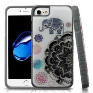 Tough Anti-Shock Triple Layer Hybrid Case for iPhone 8 / 7 / 6S / 6 - Lucky Elephant Mandala