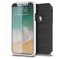 *Sale* 360 Full Body Protection Fusion Case with Tempered Glass Screen Protector for iPhone X - Silver