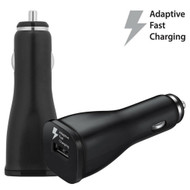Adaptive Fast Charging Car Charger - Black