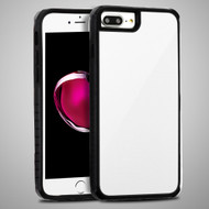 *Sale* Scratch Proof Tempered Glass Tough Anti-Shock Hybrid Case for iPhone 8 Plus / 7 Plus / 6S Plus / 6 Plus - White
