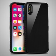 *Sale* Scratch Proof Tempered Glass Tough Anti-Shock Hybrid Protection Case for iPhone X - Black