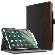 Slim Folding Smart Leather Folio Stand Case with Auto Wake / Sleep for iPad Pro 10.5 inch - Black Brown