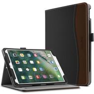 Slim Folding Smart Leather Folio Stand Case with Auto Wake / Sleep for iPad Pro 10.5 inch - Black Brown