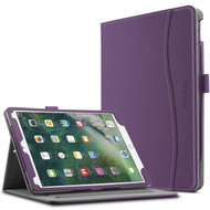Slim Folding Smart Leather Folio Stand Case with Auto Wake / Sleep for iPad Pro 10.5 inch - Purple