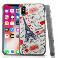 *Sale* Tough Anti-Shock Triple Layer Hybrid Case for iPhone X - Eiffel Tower