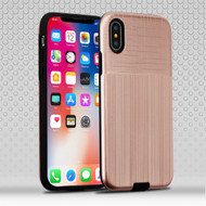 *Sale* Double Texture Anti-Shock Hybrid Protection Case for iPhone X - Rose Gold