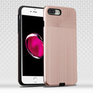 *Sale* Double Texture Anti-Shock Hybrid Protection Case for iPhone 8 Plus / 7 Plus - Rose Gold