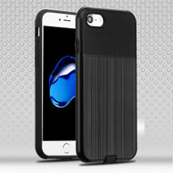 *Sale* Double Texture Anti-Shock Hybrid Protection Case for iPhone 8 / 7 - Black