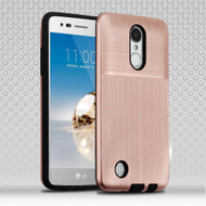 *Sale* Double Texture Anti-Shock Hybrid Protection Case for LG Aristo / Fortune / K8 (2017) / Phoenix 3 - Rose Gold