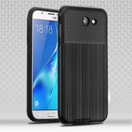 Double Texture Anti-Shock Hybrid Protection Case for Samsung Galaxy J7 (2017) / J7 V / J7 Perx - Black