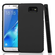 Tough Anti-Shock Hybrid Protection Case for Samsung Galaxy J7 (2017) / J7 V / J7 Perx - Black
