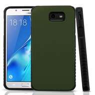 *Sale* Tough Anti-Shock Hybrid Protection Case for Samsung Galaxy J7 (2017) / J7 V / J7 Perx - Army Green