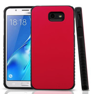 *Sale* Tough Anti-Shock Hybrid Protection Case for Samsung Galaxy J7 (2017) / J7 V / J7 Perx - Red