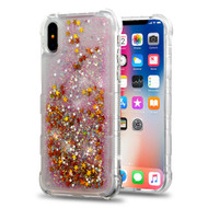 Tuff Lite Quicksand Glitter Transparent Case for iPhone X - Pink