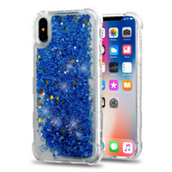 *Sale* Tuff Lite Quicksand Glitter Transparent Case for iPhone X - Blue