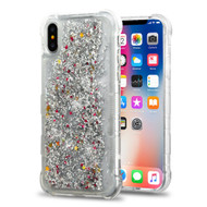 *Sale* Tuff Lite Quicksand Glitter Transparent Case for iPhone X - Silver