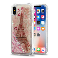 *Sale* Tuff Lite Quicksand Glitter Case for iPhone X - Eiffel Tower